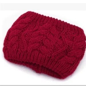 Accessories - ! 2 for $8 ! Ivory and Red Beanie Left